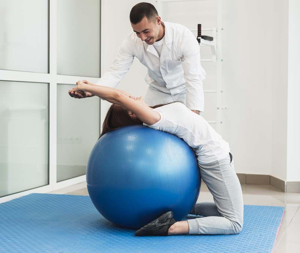 ćwiczenia z fizjoterapeutą w gabinety rudek